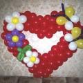 Сердце из Шаров с цветочками