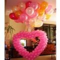Сердце из Шаров с гелиевыми шариками