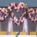 три свадебных Сердца из Шаров