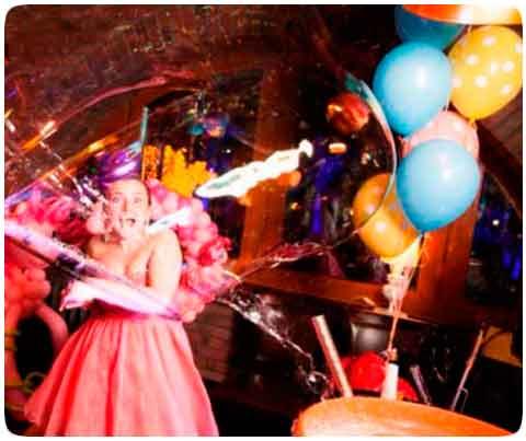 Шоу мыльных пузырей в Киеве на Свадьбу