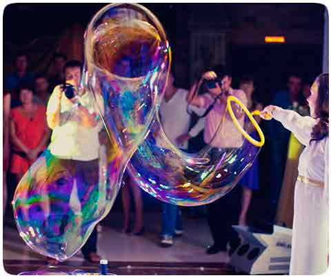 Шоу мыльных пузырей на дом